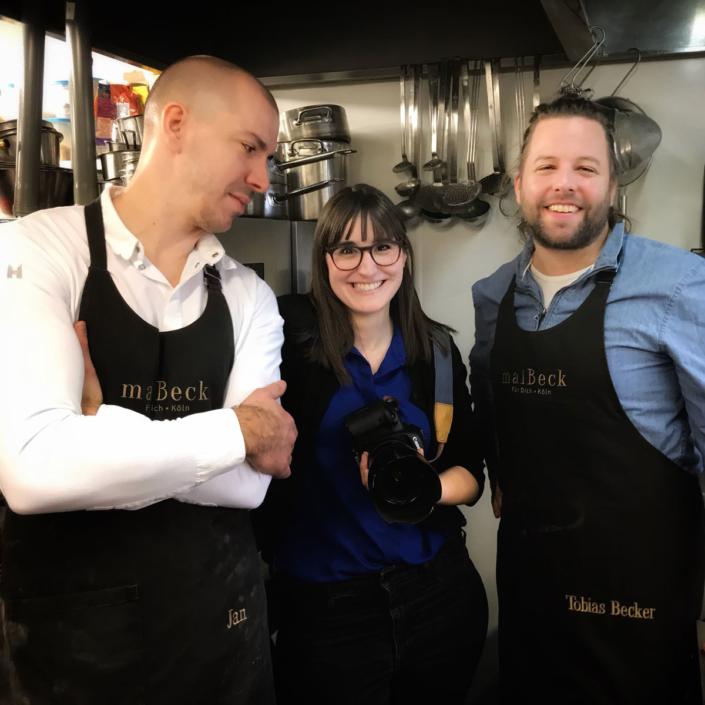 So langsam wird es ernst mit den Fine Food Days: Die Food-Fotografin Jennifer Braun macht die große Runde und besucht alle Projektpartner in der Küche. Hier im maiBeck. Foto: Johannes J. Arens